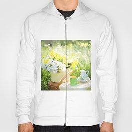 Romantic Daisy Flower Bouquet Hoody