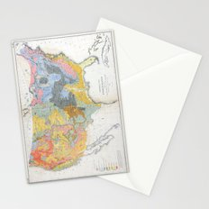 1874 Geological Map of the United States Stationery Cards