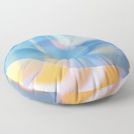 Blue wisps Floor Pillow