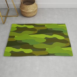 Camo-licious Collection: Wild Jungle Green Camouflage Pattern Rug