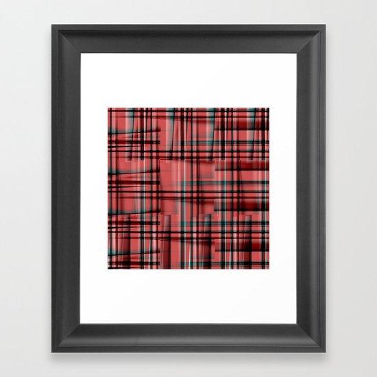 Pattern red 1 Framed Art Print