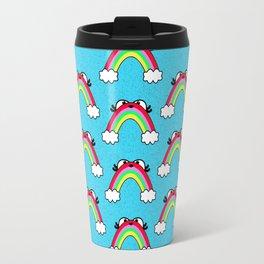 Rainbow Buddy pattern Travel Mug