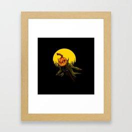 Pumpkin scarecrow Framed Art Print
