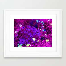 Breathing Underwater at Night Framed Art Print