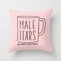 Male Tears Throw Pillow