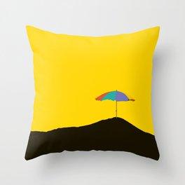 Colorful Parasol Black Yellow Background #decor #society6 #buyart Throw Pillow