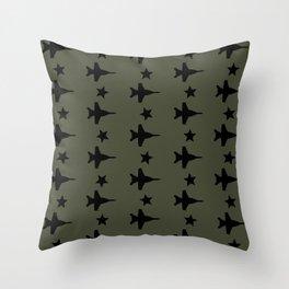 F-18 Hornet Fighter Jet Pattern Throw Pillow