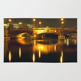 Moltke-Bridge at the river Spree in Berlin Rug
