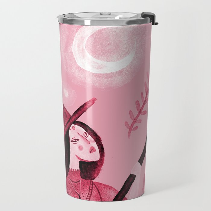 Longing for the moon Travel Mug