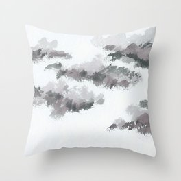 clouds_january Throw Pillow
