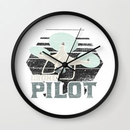 Drone Pilot Wall Clock