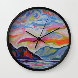 Lake Okanagan From Peachland Wall Clock