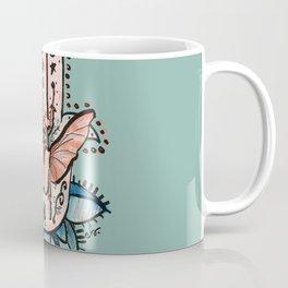 Soft Hamsa Hand Pink & Green Ash_digital drawing Coffee Mug