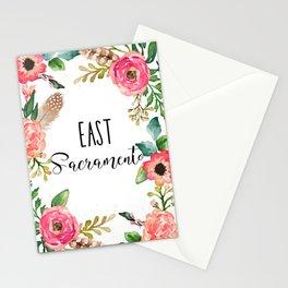 East Sacramento Floral Stationery Cards