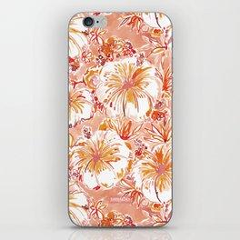 KOMBUCHA-CHA Orange Tropical Hibiscus Floral iPhone Skin
