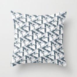 Triangle Optical Illusion Gray Dark Throw Pillow