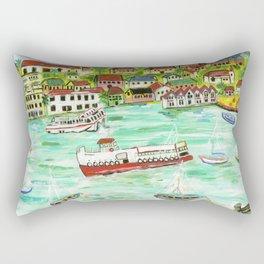 Day at the Harbor Rectangular Pillow