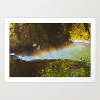 Rainbow Over the Falls Art Print
