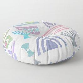 Pale bits Floor Pillow