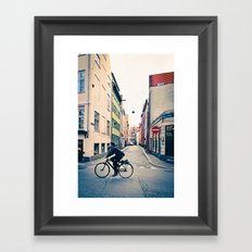 Copenhagen Cycle Style Framed Art Print