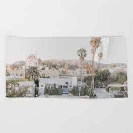 Hollywood California Beach Towel