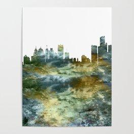 Detroit Skyline Michigan Poster