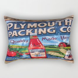 Plymouth Mural Rectangular Pillow