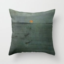 Nocturne - Blue and Gold, Southampton Water by James McNeill Whistler Throw Pillow