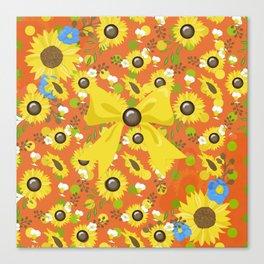 Passion Sunflower Canvas Print