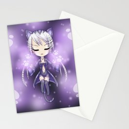Cat Chibi - Cyber Magician - Manga Style Stationery Cards
