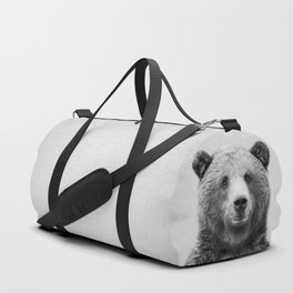 Grizzly Bear - Black & White Duffle Bag