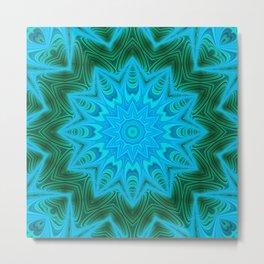 Green blue kaleidoscope 3 Metal Print