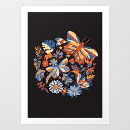 Jardin de papillons Art Print