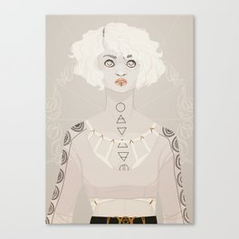 Pale Witch Canvas Print