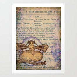 Midsummer Night Fairy Art Print