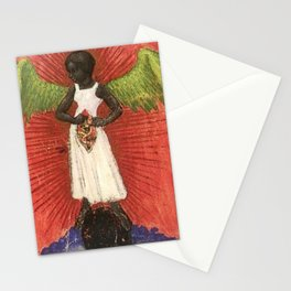 Magnificent African American Masterpiece, The Black Angel of the Lord portrait painting  Stationery Cards