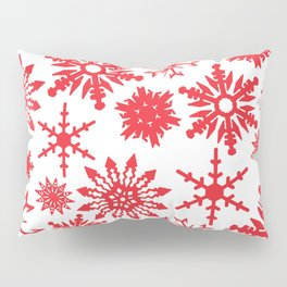 Red Snowflakes Pillow Sham