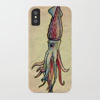 squid iPhone & iPod Cases featuring Squid by Irene Fratto Due