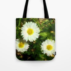 Three White Daisies Tote Bag