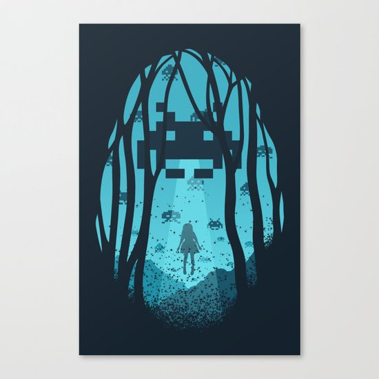 8 Bit Invasion Canvas Print