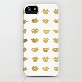 Kiss Collection – Gold Ink iPhone Case