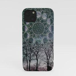 Turquoise Moon Phase iPhone Case