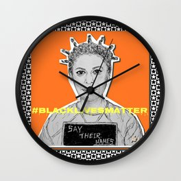 (Oitnb Crazy Eyes - Say Their Names) - yks by ofs珊 Wall Clock