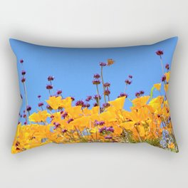 Painted Lady Butterfly loving the Superblooms of Spring by Reay of Light Photography Rectangular Pillow