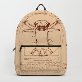 Vitruvian pug Backpack