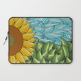 SUNNY DAY (abstract flowers) Laptop Sleeve