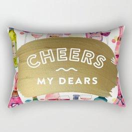 Cheers My Dears – Gold Rectangular Pillow