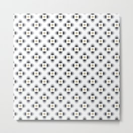 Pattern flowers color grey gradient Metal Print
