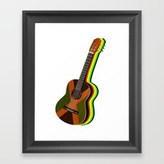 Reggae Guitar Framed Art Print