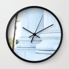 Jefferson Columns Wall Clock